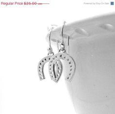 On Sale Horseshoe Earrings Sterling Silver by GirlBurkeStudios, $22.50