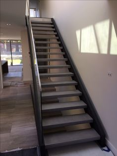 Polished concrete stair treads by Mitchell Bink Concrete Design. www.mbconcretedesign.com.au