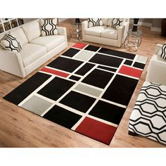 I'm getting this for my living room because it reminds me of a Mondrian painting... #artdork