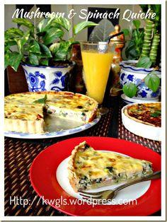 Mushrooms and Spinach Quiche (蘑菇菠菜乳蛋饼) | GUAI SHU SHU #guaishushu #kenneth_goh #mushroom_quiche #spinach_quiche #菠菜乳蛋饼 #蘑菇乳蛋饼