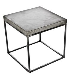 Concrete Cube End Table | Patrick Cain Designs