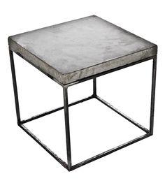 Concrete Cube End Table   Patrick Cain Designs