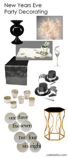 New Year's Eve Party Decorating - w/links to shop!