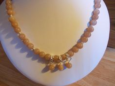 Peach moonstone necklace £12.50