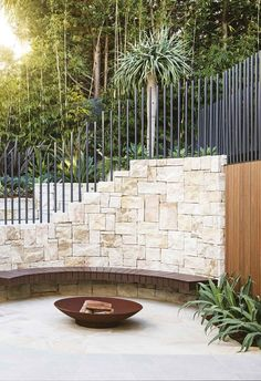 This impressive garden makeover cleverly links the terrace and pool area with an inviting entertaining zone. This impressive garden makeover cleverly links the terrace and pool area with an inviting entertaining zone. Outdoor Fire, Outdoor Areas, Outdoor Rooms, Outdoor Living, Garden Makeover, Patio Makeover, Sydney Gardens, Pergola Pictures, Modern Garden Design
