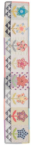 Meadow Rose quilt row designed by Jen Kingwell
