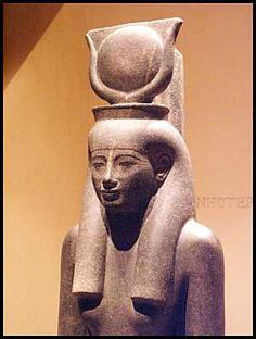 """HET-Heru / het-hert / hathor """"house of horus"""" Egypytion solar and lunar diety. Patron of DANCE, sensuality, ecstasy, beauty. Represented with crescent moon horns and a solar disc, often represented as a cow (a symbol for beauty) or as a a lioness in her sister-role of sekhmet. Het-Heru, goddess of dance"""