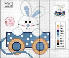 Coelho Tiny Cross Stitch, Cross Stitch For Kids, Cross Stitch Animals, Cross Stitch Designs, Cross Stitch Cards, Cross Stitch Patterns, Cross Stitching, Cross Stitch Embroidery, Broderie Simple
