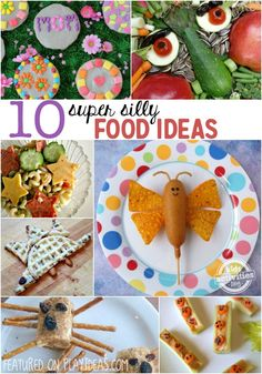 If you have a picky eater, These silly food ideas are a great way to allow your kids to play with their food!