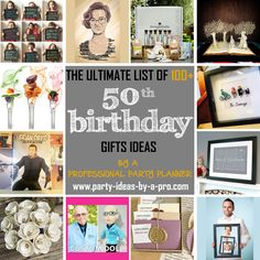 The ultimate list of birthday gifts with ideas for men and women, including sentimental gifts, gift baskets, gag gifts, and gadgets. 50th Birthday Gifts, Sentimental Gifts, Custom Dolls, Gag Gifts, Gift Baskets, Photo Wall, Party, 50 Birthday Gifts, Sympathy Gift Baskets