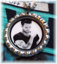 Adam Levine Necklace Pendant Earring Set Maroon 5 Black and White Style