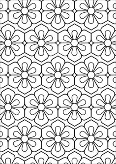 Flower Pattern coloring page from Pattern category. Select from 32012 printable crafts of cartoons, nature, animals, Bible and many more. Geometric Coloring Pages, Pattern Coloring Pages, Free Adult Coloring Pages, Flower Coloring Pages, Free Printable Coloring Pages, Colouring Pages, Coloring Sheets, Coloring Books, Geometric Mandala