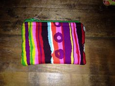 Fabric Zippered Pouch on Etsy, $5.00