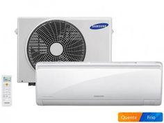 Ar-Condicionado Split Samsung Inverter 9000 BTUs - Quente/Frio AR09HSSPBSN/AZ Autolimpante