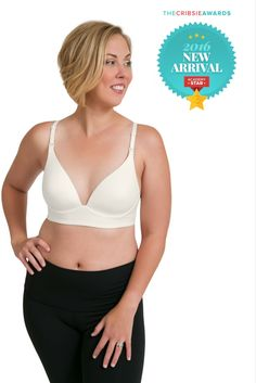 Kindred Bravely is truly honored to have received the Cribsie Awards Academy Star for the Marvella Maternity and Nursing Bra! This super-soft molded cup plunge t-shirt bra features clip down cups making nursing a breeze! Snag the award-winning Marvella bra before they're gone!