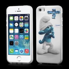Smurf cover Clumsy voor iPhone 5 en 5S #covermaniabe #iphonehoesje #iphonecover www.cover-mania.be