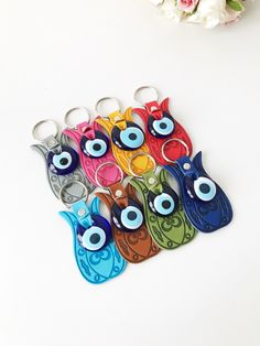 Disciplined Evil Eye Turkey Evil Eye Keychain Blue Butterfly Evil Eye Keyring Evileye Beads With Eye For Key Chain Charms Car Key Chain Jewelry & Accessories Key Chains