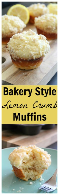 Bakery Style Lemon Crumb Muffins – A wonderful fluffy lemon muffin topped with homemade streusel and a lemon honey drizzle. Perfect for breakfast or brunch!