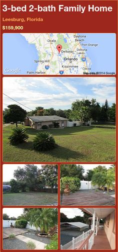 3-bed 2-bath Family Home in Leesburg, Florida ►$159,900 #PropertyForSale #RealEstate #Florida http://florida-magic.com/properties/79435-family-home-for-sale-in-leesburg-florida-with-3-bedroom-2-bathroom