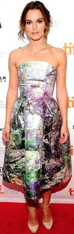 Keira Knightley in Mary Katrantzou Resort 2014