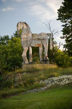 Bernard Langlais - how I would love to see his outdoor sculptures!