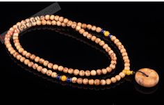 108 Thuja Mala Beads With Spacers and Pendant