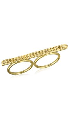 Rock It Knuckle Ring Yellow Gold