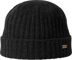 Kangol Lambswool Fully Fashioned Pull-On Beanie - Black Rib Knit 2198bebf60c
