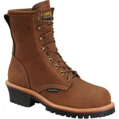 Made in the USA. Carolina Mens 8' Waterproof Logger Work Boot