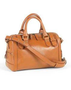 MUST SEE -  Cognac Leather Satchel...