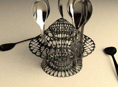 3D Printed Spoon dryer #3dPrintedHomeDecor