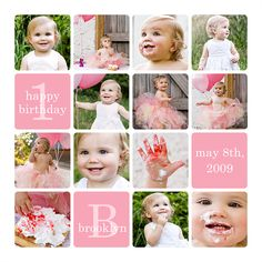 1st Birthday Storyboard