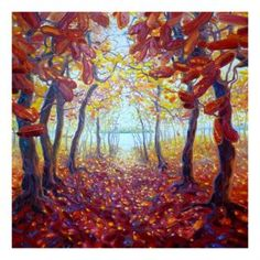 Monarchs of Autumn Canvas Painting