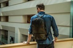 The Black leather 2Face Backpack has your back wherever you go #fashion #denim #bag #backpack #style #streetstyle #design #architecure