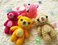 A little love everyday!: Amigurumi Teddy bear free crochet pattern, keychain, #haken, gratis patroon (Engels), teddy beer, sleutelhanger, tashanger, decoratie, #haakpatroon