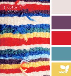 color weave? A rich winter palette for afghans around the fire