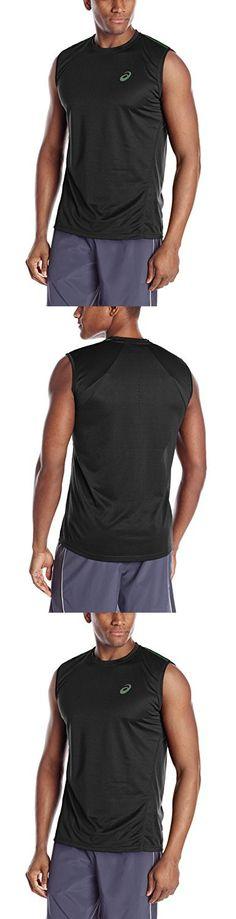 ASICS Men's Sleeveless Top, Large, Performance Black