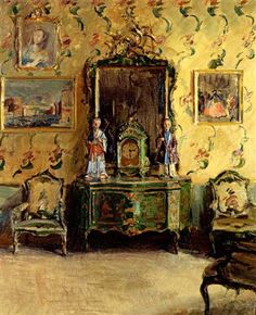 "Walter Gay (American, 1856–1937) - ""The Chinoiserie Room, Correr Museum, Venice"""