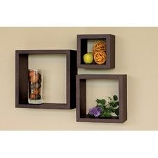 home trends, Wall Cube, shelf Set, 3pcs