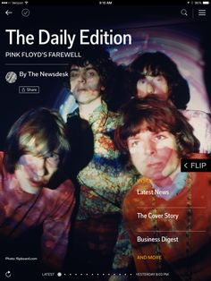 Today in flip.it/dailyedition: Pink Floyd's Farewell.