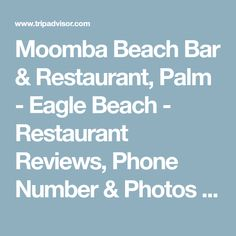 Moomba Beach Bar & Restaurant, Palm - Eagle Beach - Restaurant Reviews, Phone Number & Photos - TripAdvisor Beach Bars, Restaurant Bar, A Table, Trip Advisor, Palm, Menu, Number, Phone, Menu Board Design