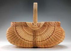 Squared Egg Basket    2011 Leona Waddell, born Cub Run, KY 1929 white oak 12 1/2 x 16 x 11 1/2 in. (31.8 x 40.6 x 29.2 cm) Smithsonian American Art Museum, Gift of Martha G. Ware and Steven R. Cole