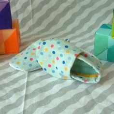 Shoes Blue Polka Dot by miepmopmoop on Etsy, $13.00