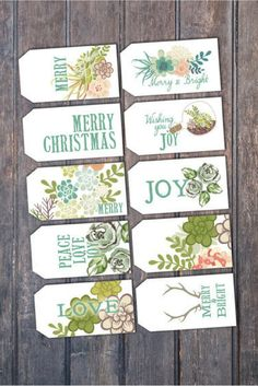 Cute and unique gift tags for the holidays.   #ad #christmas #gift
