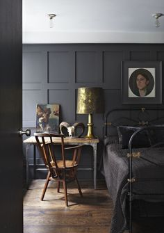 Charcoal Paint Colours & Charcoal Interiors, Image Source thenletitbe.tumblr.com