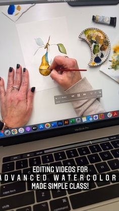 lifeidesign on Instagram: The Advanced Watercolors Made Simple class is coming along slowly but surely. Here's a peek at what you can expect from one of the many… Learn Watercolor Painting, Video Editing, Painting Techniques, Watercolors, Make It Simple, Journey, Canning, Projects, Instagram