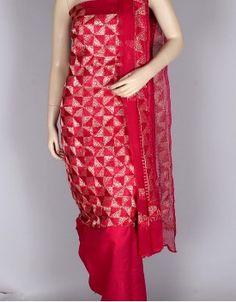 Hand Embroidered Phulkari Cotton Suit-30