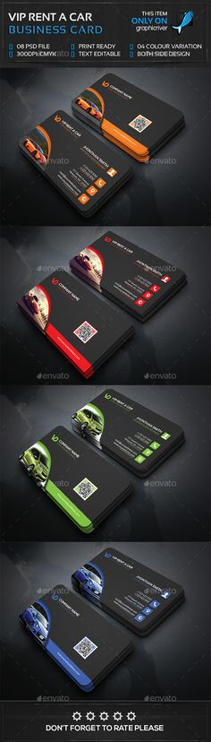 Rent a Car Business Card Template PSD #design Download: http://graphicriver.net/item/rent-a-car-business-card/13987529?ref=ksioks