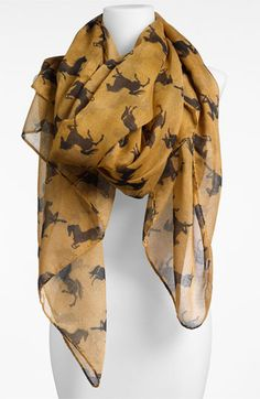 Lulu 'Horse' Print Scarf - great for incorporating this Fall's equestrian look without going overboard - available at #Nordstrom