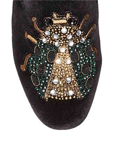 Shoes | Mules | Sequin Snake Velvet Mules | Hudson's Bay